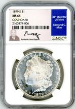 1879 S Morgan Dollar MS64 NGC GSA Hoard Moy