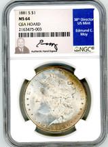 1881 S Morgan Dollar MS64 GSA Hoard Moy