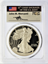 2003-W Silver Eagle PR 70 DCAM PCGS Mercanti Signed - Price Guide $900