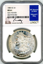 1885 CC Morgan Dollar MS61 NGC GSA Hoard Moy