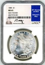 1885 Morgan Dollar MS63 NGC GSA Hoard Moy