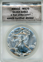 1988 ASE MS70 ANACS First Strike ANACS Certified #0002