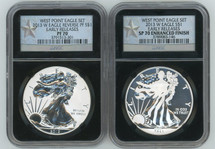 2013 W ASE 2-coin Set PF/SP70 Enhanced Finish NGC Early Releases West Point Eagle Set black core star label