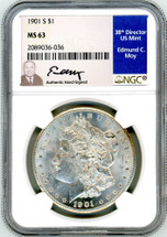 1901 S Morgan Dollar MS63 NGC Moy