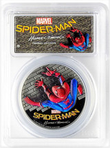 2017 $5 Cooks Island PR70 PCGS FDOI Spider-Man Homecoming with COA & OGP
