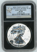 2013 W Rev. Proof ASE PF70 NGC Early Releases West Point Eagle Set star label