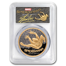 2017 $200 1oz Gold PCGS PR70DCAM FDOI Spider-Man AUTOGRAPHED By Stan Lee!