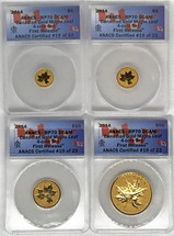 2014 Canada Gold Maple Leaf 4-Coin ($1, 5, 10, 50) RP70 ANACS First Release ANACS Certified #19 of 23