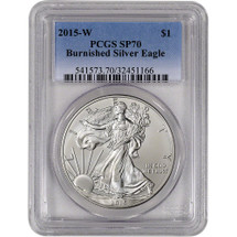 2015-W Burnished Silver Eagle SP70 PCGS