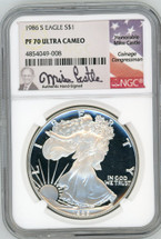 1986 S Proof ASE PF70 NGC Ultra Cameo M. Castle