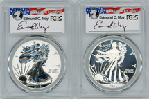 2013-W  Moy Signed West Point Anniversary Silver Eagle Set 70 PCGS First Strike
