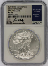 2012 W Burn ASE MS70 NGC Early Releases Moy