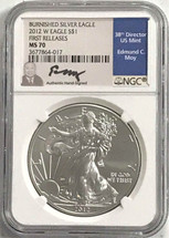 2012 W Burn ASE MS70 NGC First Releases Moy
