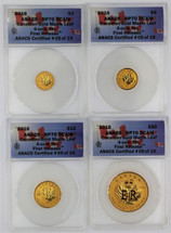 2016 4-Coin Canadian Gold Maple Leaf Set ($1, 5, 10, 50) RP70 DCAM ANACS First Release ANACS Certified #05 of 19