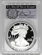 2018-S Proof ASE PR70 PCGS First Strike T. Cleveland wreath *POP 28*