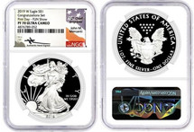 2019 W Proof ASE PF70 NGC Ultra Cameo Congratulations Set  First Day FUN SHOW Mercanti