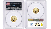 2019-W $5 Gold Proof Apollo 11 PCGS PR70 First Day of Issue AMF Label *Low Pop*