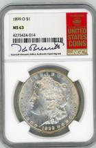 1899 O Morgan Dollar MS63 NGC K. Bressett