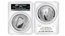 2019-P 5oz  Apollo Proof FIRST DAY OF ISSUE PCGS PR70 Moon Label
