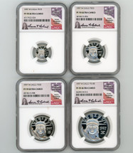 1997 W Platinum Eagle 4-Coin Set ($10, 25, 50, 100) PF70 NGC Ultra Cameo Anna Cabral