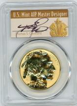 2013-W $50 Rev. Proof Gold Buffalo PR70 PCGS 100th Anniv. Flag First Strike