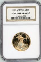 2005 W $25 Gold Eagle PF70 NGC Ultra Cameo