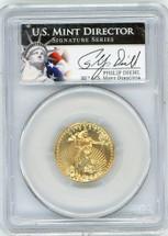 2013 $10 Gold Eagle MS70 PCGS Philip Diehl