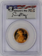 1995-W $10 Gold Eagle PR70 PCGS Ed Moy flag