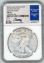 2013 (S) ASE MS70 NGC Early Release Struck at San Francisco Mint Moy