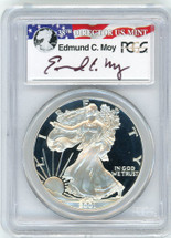 2001-W Proof ASE PR70 PCGS Moy red, white, blue label
