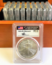 2006-2018 W Complete Burnished Silver Eagle Set SP 70 PCGS Mercanti Signed