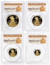 2019-W Proof Gold Eagle 4-Coin Set ($5, 10, 25, 50) PR70 PCGS FDOI Thomas Cleveland