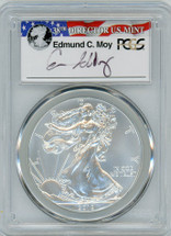 2012-W Burnished Silver Eagle SP 70 PCGS Moy Signed - PRICE GUIDE $285