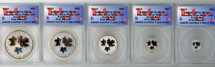 2016 5-Coin Canadian Silver Maple Leaf Set ($1, 2,, 3, 4, 5) RP70 ANACS First Release Certified # of 461
