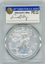 2017-W Burn ASE SP70 PCGS FDOI 225th Anniv US Mnt DC Moy blue label