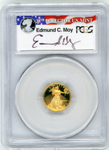 1988-P $5 Proof Gold Eagle PR70 PCGS Moy r/w/b label