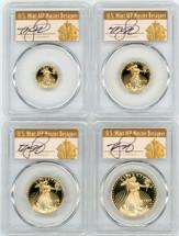 1998-W Proof Gold Eagle 4-Coin Set PR70 PCGS T Cleveland Art Deco ($5,10,25,50)