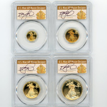1992-P Proof Gold Eagle PR70 PCGS 4-coin Set ($5, 10, 25, 50) T Cleveland Art Deco