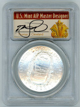 2019-P Apollo 11 $1 Silver MS70 PCGS 50th Anniv FDOI T. Cleveland Art Deco