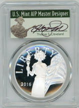 2016-W Amer Lib Medal PR70DCAM PCGS First Strike T. Cleveland Minuteman label