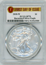2018-W Burn ASE SP70 PCGS First Day of Issue label