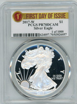 2017-W Proof ASE PR70 PCGS 1 of 1000 First Day of Issue label