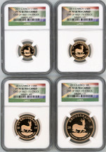 2015 S. Africa Krugerrand 4-coin Set (1/10, 1/4, 1/2, 1) PF70 NGC Ultra Cameo One of First 175 Struck