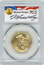 2016 $25 Gold Eagle MS70 PCGS Reagan Legacy Series Michael Reagan signed