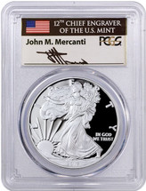 2017-W Proof ASE First Day of Issue MERCANTI PCGS PR70 1 OF 1500