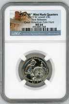 "2019 W Lowell 25C MS64 NGC First ""W"" Mint Mark Quarters First Releases Great American Coin Hunt"