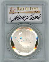 2014-P Proof Legends of Baseball PR70 PCGS Johnny Bench - C signature