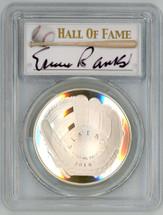 2014-P Proof Legends of Baseball PR70 PCGS Ernie Banks - SS signature