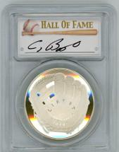 2014-P $1 Silver Baseball Hall of Fame PR70 PCGS Craig Biggio signature