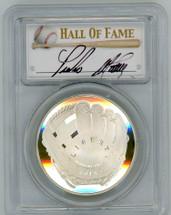 2014-P $1 Silver Baseball Hall of Fame PR70 PCGS Pedro Martinez signature